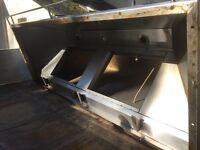 Commercial extractor hood.