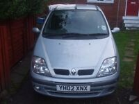 Renault Scenic 1.6 Expression 2002 for repair or spares.
