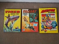 Bundle boys' annuals TIGER 1969 VALIANT 1978 GOLDEN YEARS ADVENTURE 1991 - offers invited