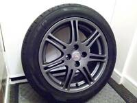 16 Alloy wheel 4x100 Honda Civic + tyres 205/50/16 Falken