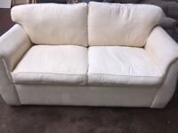 Small cream sofabed