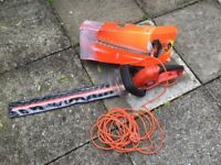 Black & Decker hedge trimmers. Hardly used.