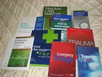 A and E medical books. As new and modern.