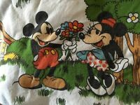 "Disney Mickie and Minnie cotton nursery curtains size 46"" wide by 66"" long."