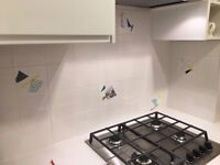 Plain white gloss ceramic wall tiles 3 x 1m2 boxes
