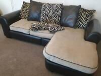 Designer Leather & Fabric Sofa set