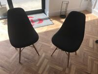 Hardly used 2 black office or study chairs for sale