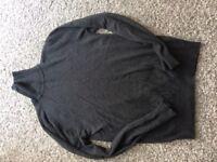 CHARLES WILSON new mens roll neck jumper in grey size medium !