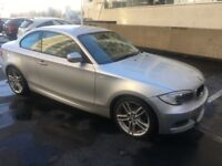 Bmw 118d Msport Coupe Silver with red leather, 2011 with 33,000 genuine miles excellent condition
