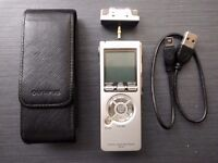 Olympus DS-40 Digital Voice Recorder with MP3/WMA Playback 512MB - Leather Case & Stereo Microphone