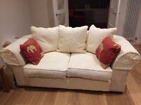 Two Seater & Three Seater Pale Yellow Sofas