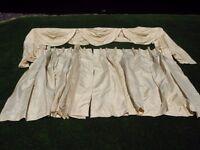 Cream Curtains and Pelmet