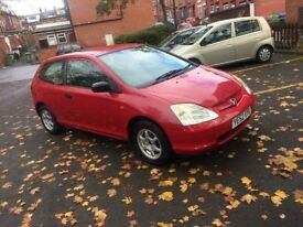 Honda Civic 1.4 2003 red 1 perivos owner 12 MONTHS MOT