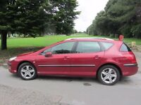 PEUGEOT4O7 -PANORAMIC SUN ROOF CRUISE CONTROL LONG MOT AND FULL SERVICE HISTORY, tyres good,two keys