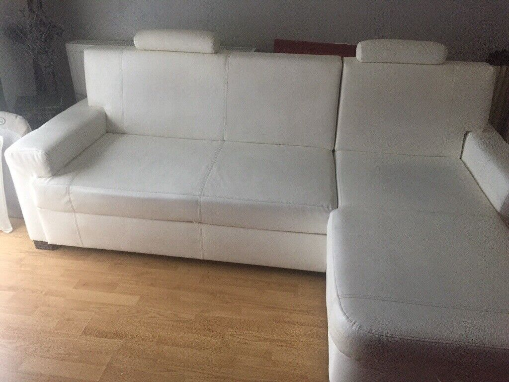 Fantastic Bonded Leather Sofa Bed In Basford Nottinghamshire Gumtree Machost Co Dining Chair Design Ideas Machostcouk