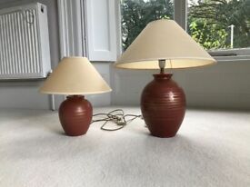 Pair of table lamps from Next