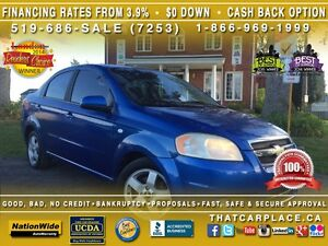 2007 Chevrolet Aveo LT-$46.72/Wk-SunRoof-Aux-LowKm's-Priced To S