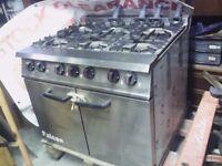Falcon Dominator 6 Burner Professional Gas Cooker. Catering 6 Burner Gas Cooker