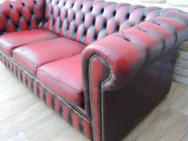 Chesterfield sofa 3 seater (Delivery)