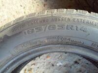 185 65 R14 Avon All season tyres X2 @5mm tread