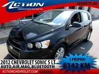 2012 CHEVROLET SONIC LT 5P. AUTO,AIR,GR.SONORE,BLUETOOTH