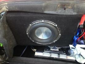 Awt12x sub with 1800bt amp