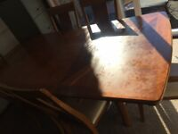 Large Mahogany Dining Table with Chairs