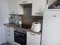 Rarely available large part furnished 1 bedroom flat in central Bonnyrigg with brand new kitchen
