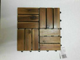 Acacia Hardwood Garden Decking / Deck tiles NEW x 26 of them
