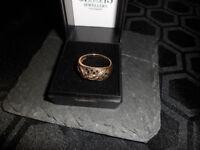ladies super 14ct gold &0.30 diamond ring