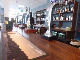 Bar Staff - 25 to 30 Hours Per week - Immediate Start- Training Provided