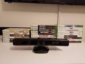Xbox 360 24 Game Bundle + Kinect