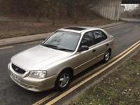 HYUNDAI ACCENT 1.5 2002 AUTOMATIC - 1 LADY OWNER FROM NEW- LONG MOT