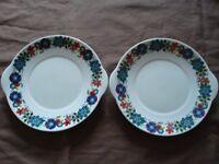 Vintage Elizabethan 'Ascot' English fine bone china decorated cake plates, £5 each