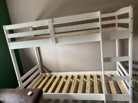 Kids bunk bed barely been slept in £50