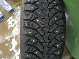 17 inch audi sport alloys with matching winter spiked tyres
