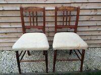Pair of charming edwardian chairs