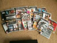 playstation 3 with 7 new games and 14 games in excellent condition