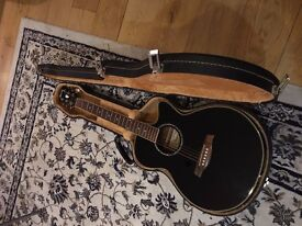 Ibanez electric-acoustic guitar with hard case