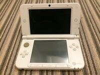 3DS XL in White with 5 Games and case.