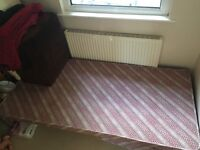 Single bed with trundle bed and mattress