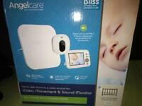 "Angelcare ac215 digital video movement and screen monitor 3.5"" baby monitor"