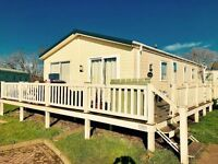 😀😀Pre-loved 3 bed LODGE for sale at Sandy Bay Holiday Park😀😀 Northumberland coast, Low site fees