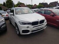 BMW X5 3.0 XDRIVE30D M SPORT 5dr AUTO (255) 4WD ** 7 Seats + Pro Nav + 4WD Auto ** (white) 2015