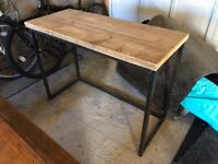 Solid Wood Industrial Style Desk