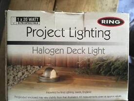 4 Boxed Halogen Deck / Decking Lights