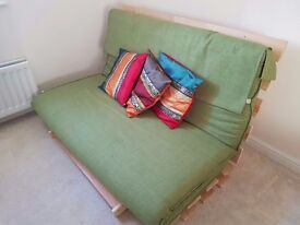 Near New Futon Sofa/Bed - Converts to a double bed sleeping 2 comfortably