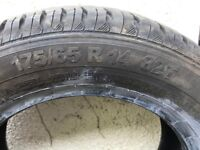 2 nearly new Continental tyres 175/65 R 14