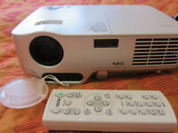 NEC NP50 Portable Projector - Very Bright Image! 2600 ANSI Lumen Brightness! 3-D Ready!