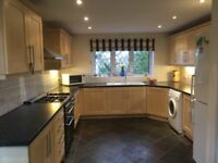 large kitchen - all cabinets, range cooker, integrated dish washer, washing machine. VG condition.